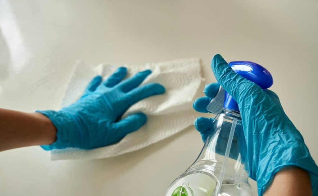 how to disinfect quartz countertops